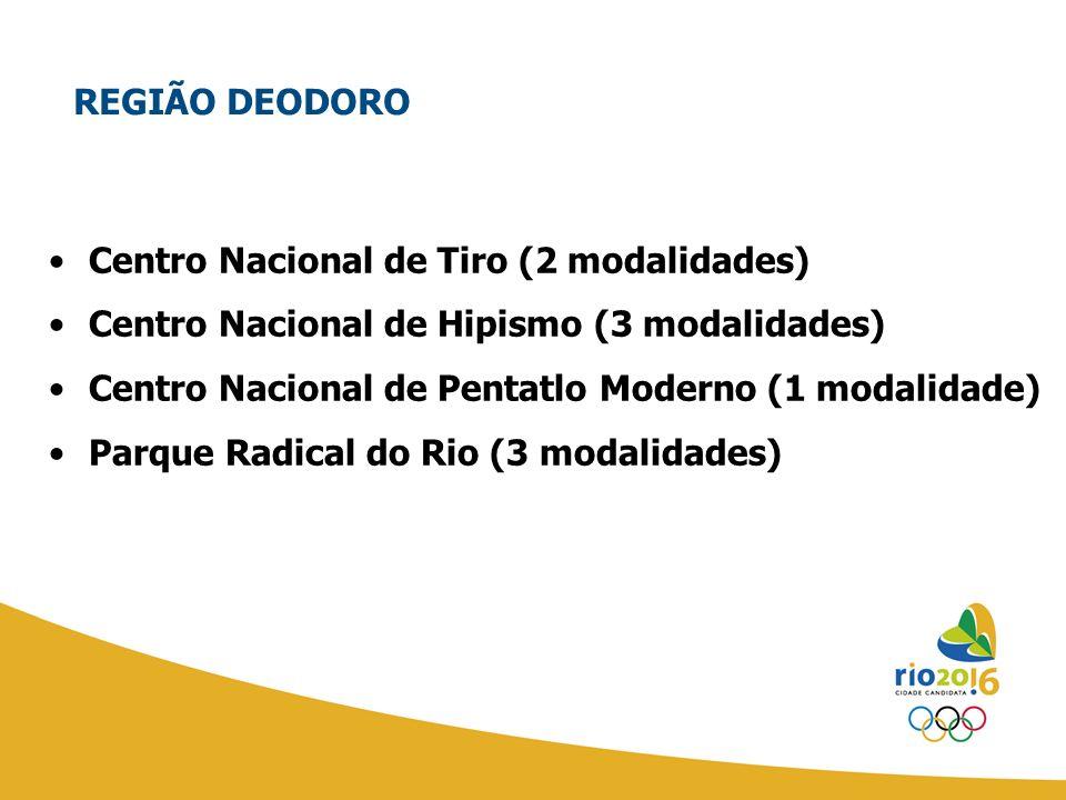 REGIÃO DEODORO Centro Nacional de Tiro (2 modalidades) Centro Nacional de Hipismo (3 modalidades)