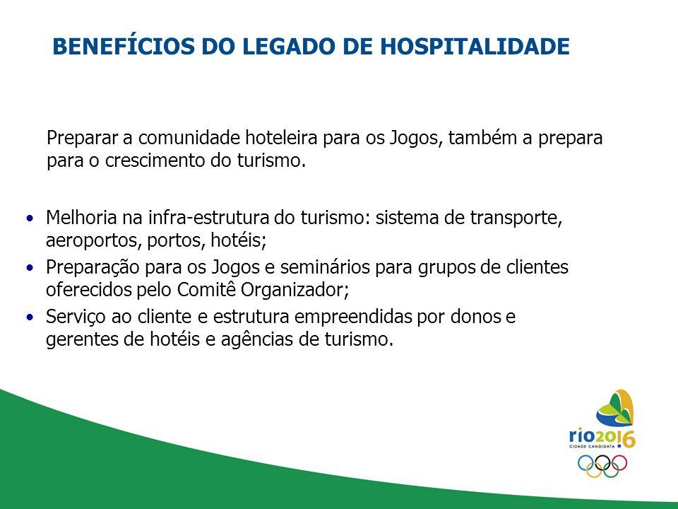 BENEFÍCIOS DO LEGADO DE HOSPITALIDADE