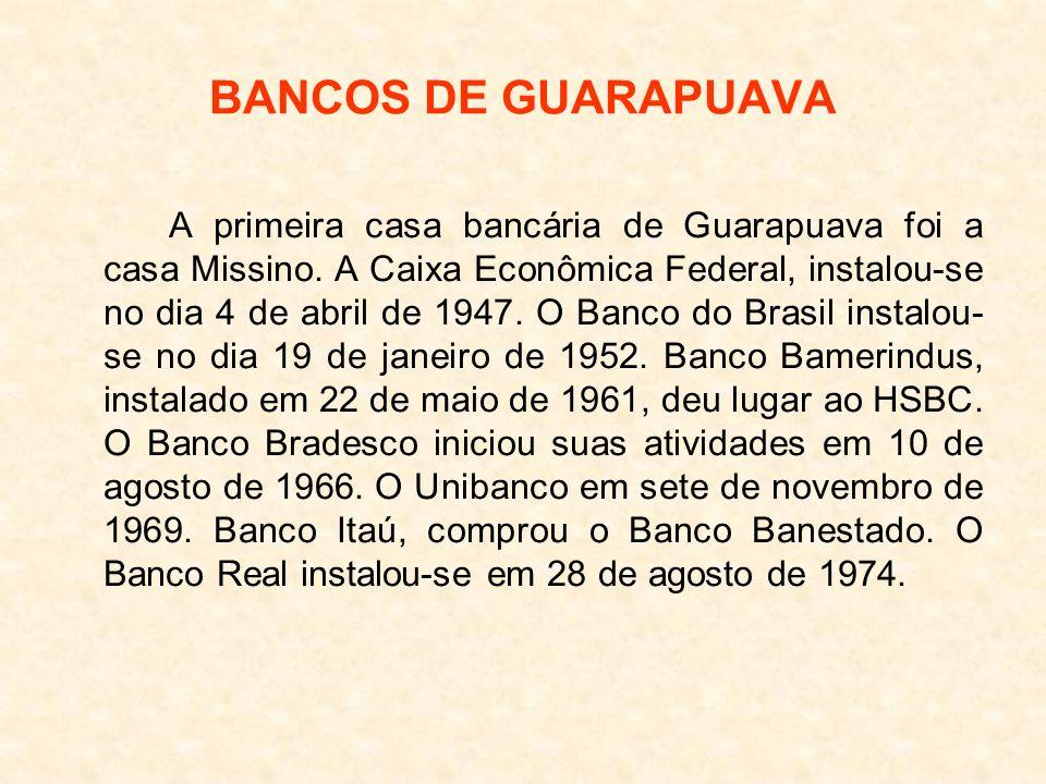 BANCOS DE GUARAPUAVA