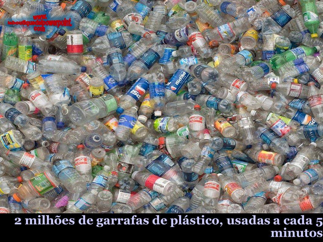 2 milhões de garrafas de plástico, usadas a cada 5 minutos