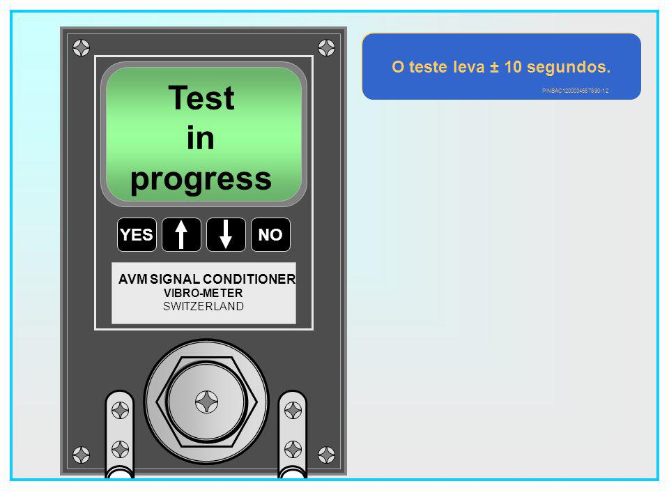 Test in progress O teste leva ± 10 segundos. YES NO