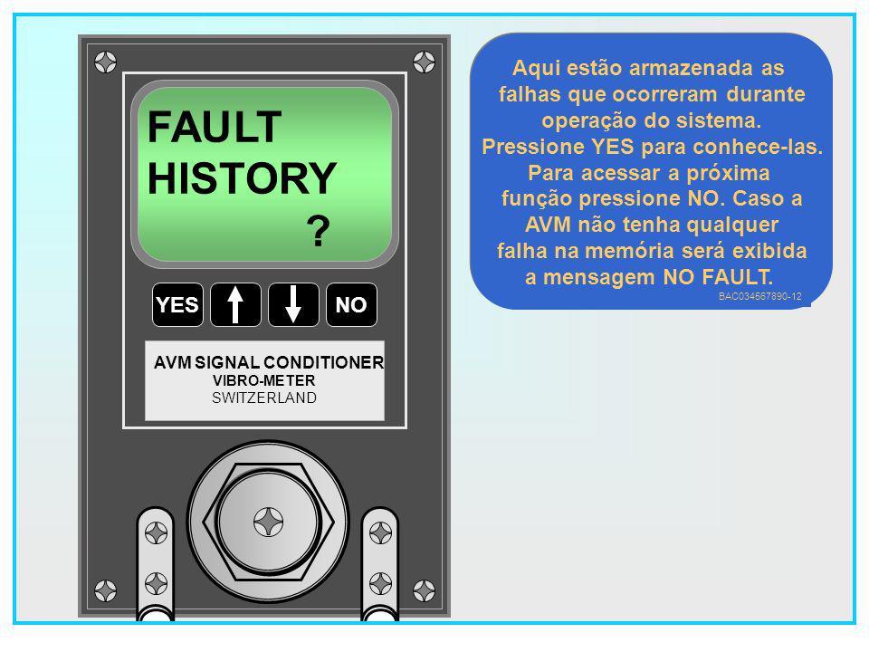 FAULT HISTORY Aqui estão armazenada as falhas que ocorreram durante
