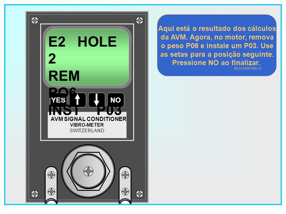 E2 HOLE 2 REM PO6 INST P03 Aqui está o resultado dos cálculos