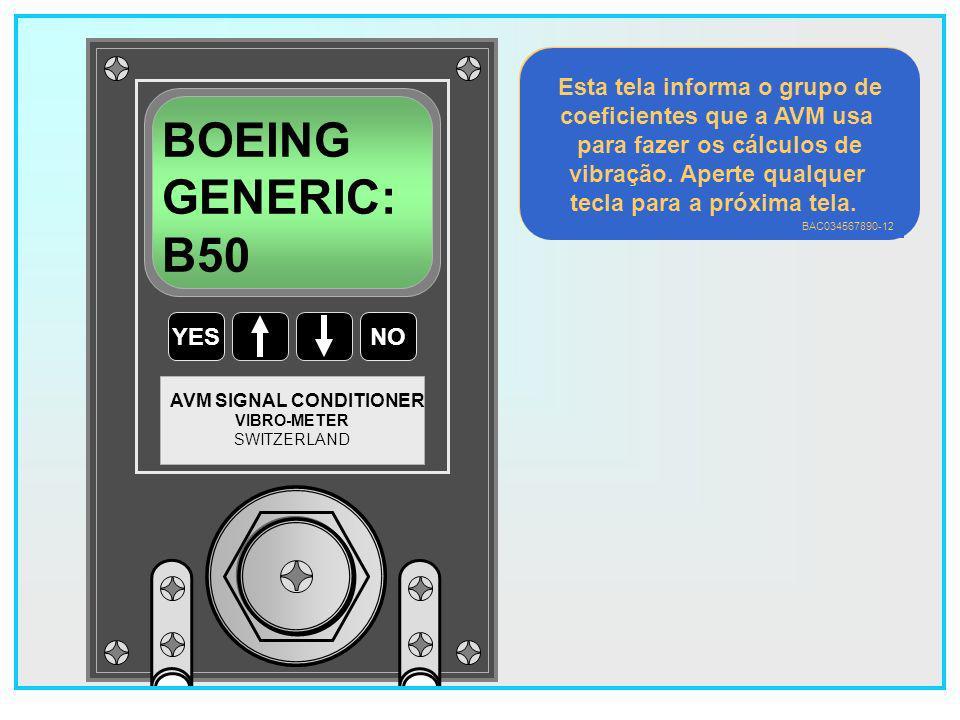 BOEING GENERIC: B50 Esta tela informa o grupo de