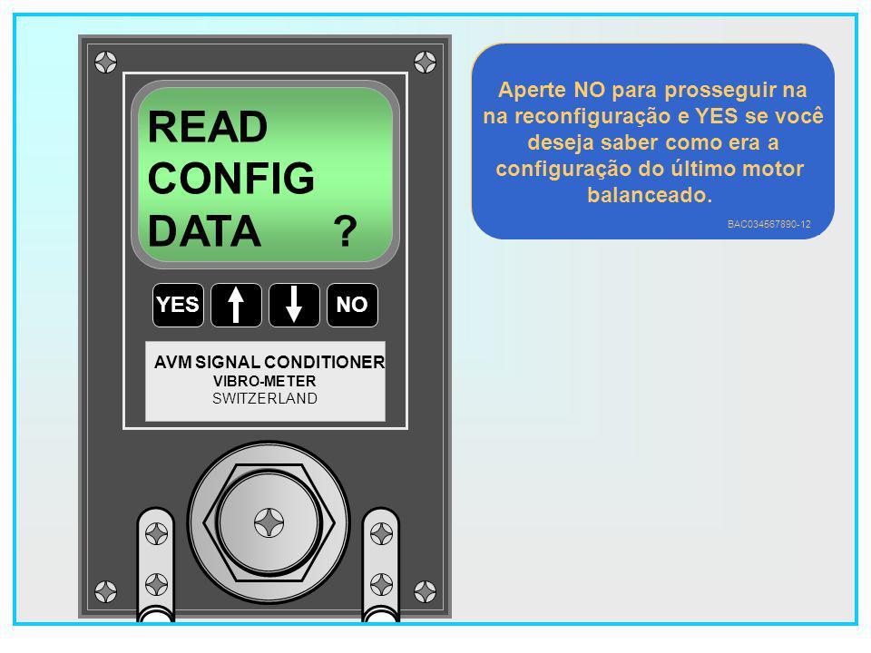 READ CONFIG DATA Aperte NO para prosseguir na