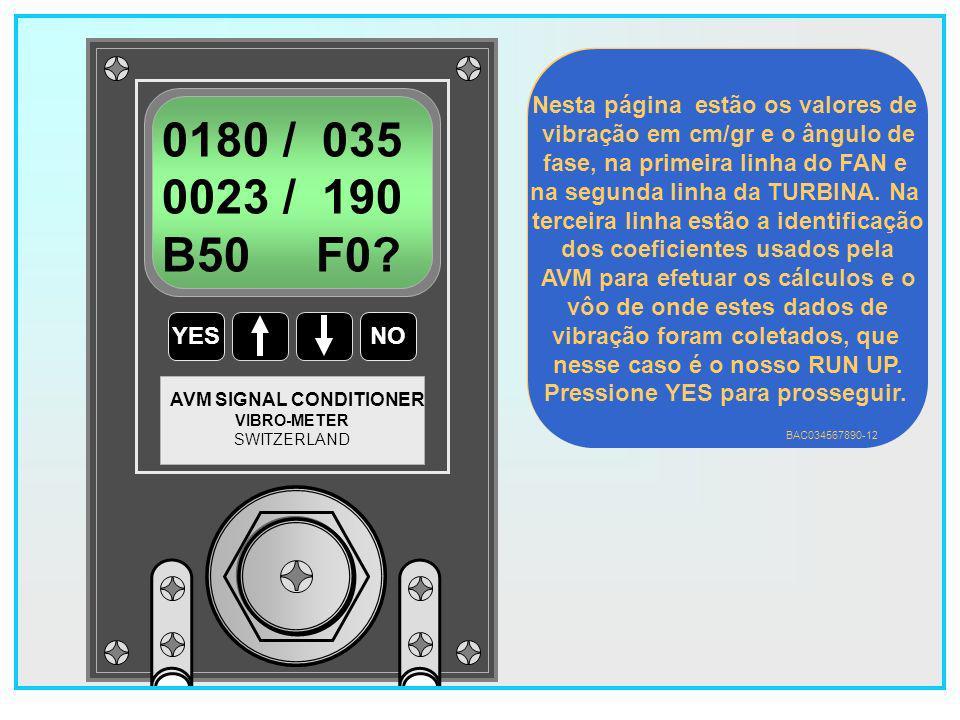 0180 / 035 0023 / 190 B50 F0 Nesta página estão os valores de