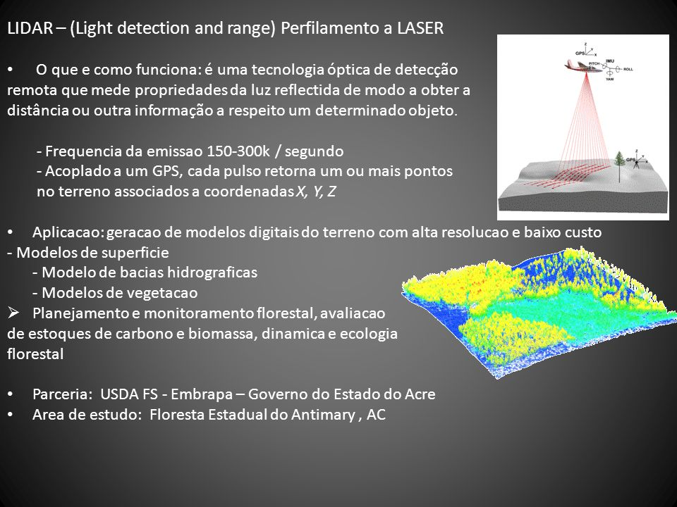LIDAR – (Light detection and range) Perfilamento a LASER