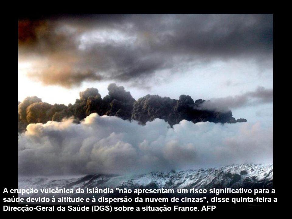 A erupção vulcânica da Islândia não apresentam um risco significativo para a saúde devido à altitude e à dispersão da nuvem de cinzas , disse quinta-feira a Direcção-Geral da Saúde (DGS) sobre a situação France.