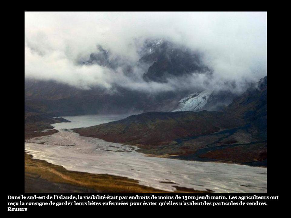 Dans le sud-est de l'Islande, la visibilité était par endroits de moins de 150m jeudi matin.