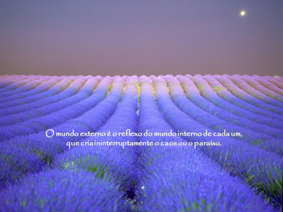 O mundo externo é o reflexo do mundo interno de cada um, que cria ininterruptamente o caos ou o paraíso.