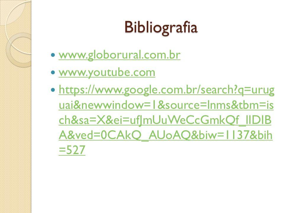 Bibliografia www.globorural.com.br www.youtube.com