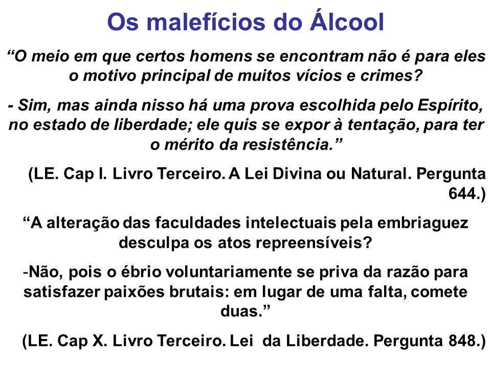 Os malefícios do Álcool