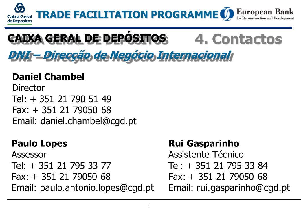 4. Contactos CAIXA GERAL DE DEPÓSITOS
