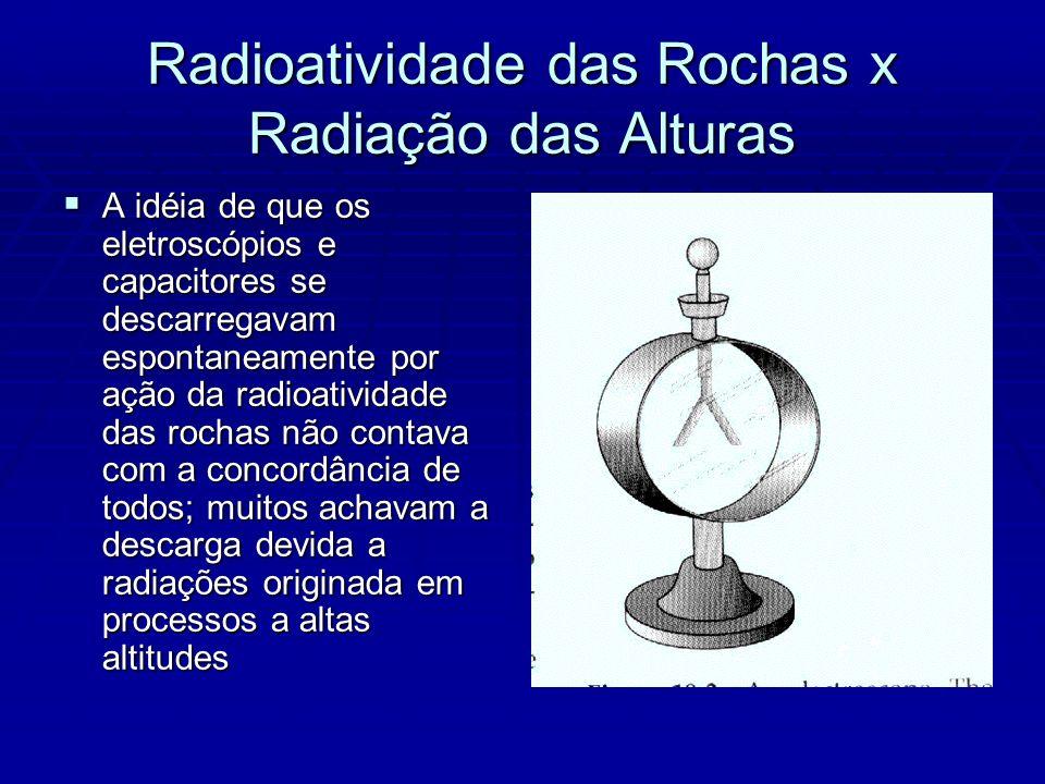 Radioatividade das Rochas x Radiação das Alturas