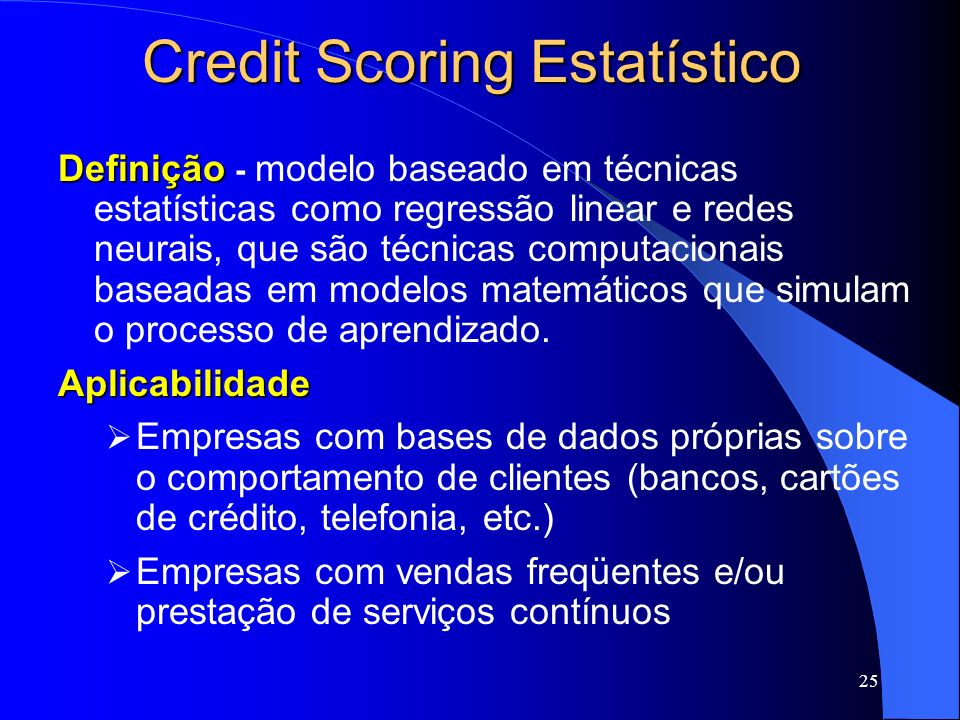 Credit Scoring Estatístico