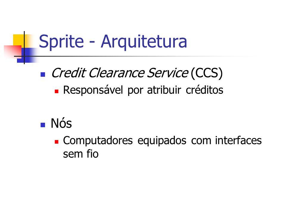 Sprite - Arquitetura Credit Clearance Service (CCS) Nós