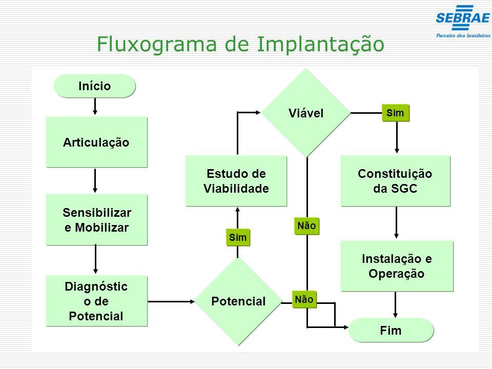 Fluxograma de Implantação