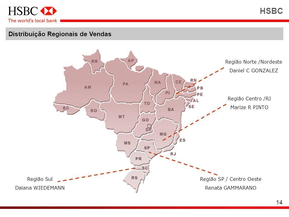 HSBC Distribuição Regionais de Vendas Região Norte /Nordeste