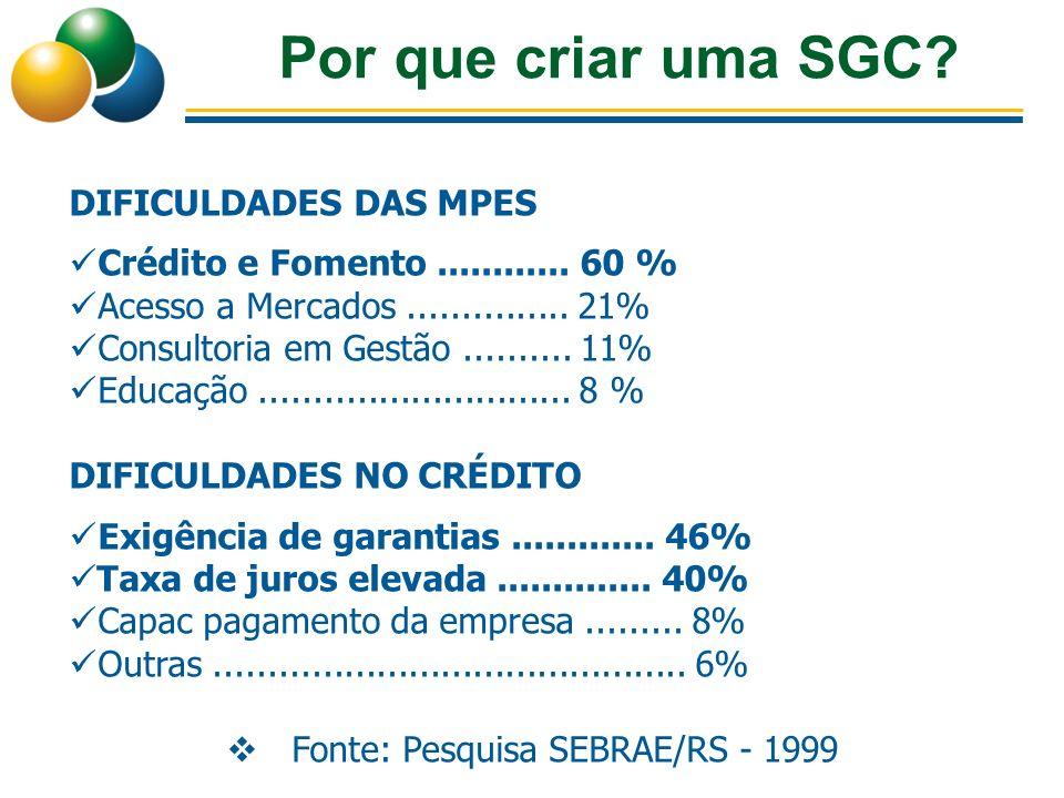 Fonte: Pesquisa SEBRAE/RS - 1999