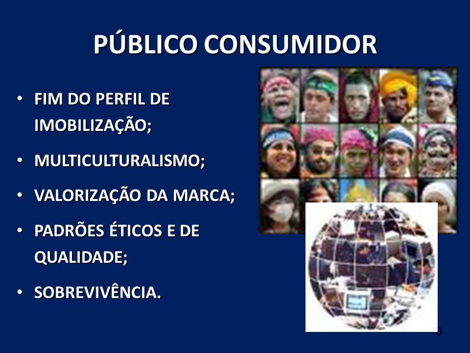 PÚBLICO CONSUMIDOR FIM DO PERFIL DE IMOBILIZAÇÃO; MULTICULTURALISMO;