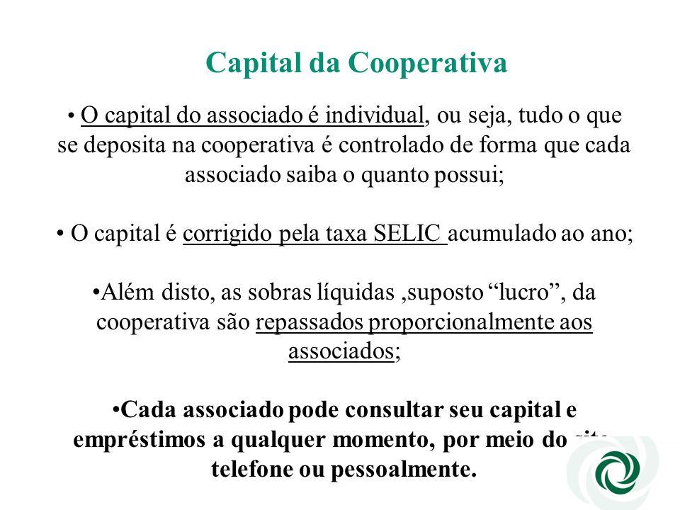 O capital é corrigido pela taxa SELIC acumulado ao ano;