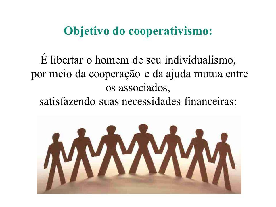 Objetivo do cooperativismo: