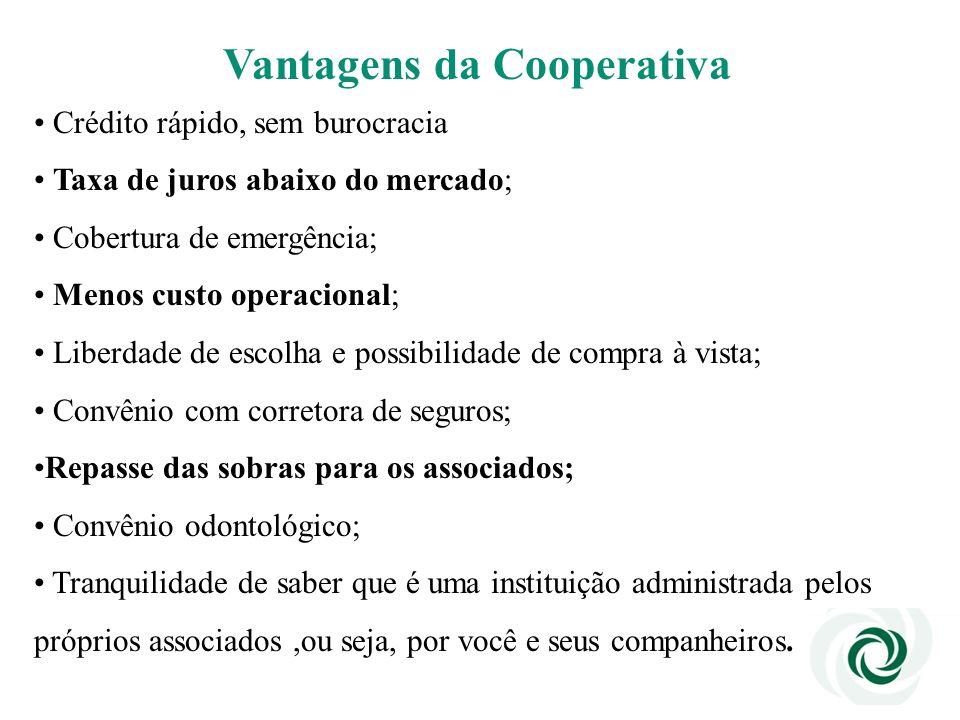 Vantagens da Cooperativa