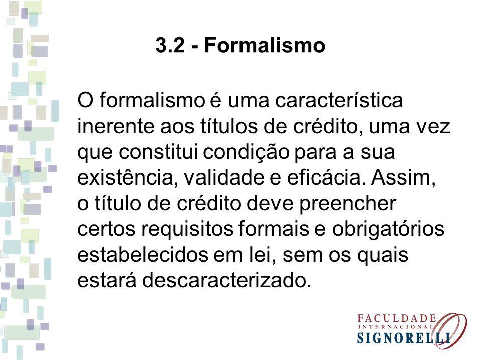 3.2 - Formalismo