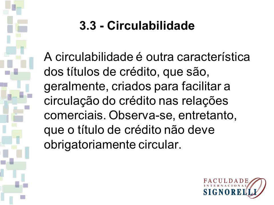 3.3 - Circulabilidade