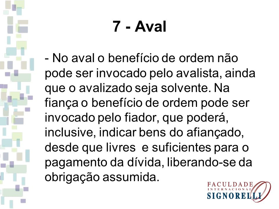 7 - Aval