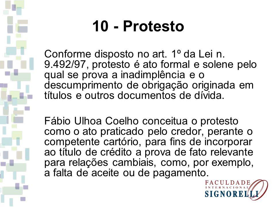 10 - Protesto