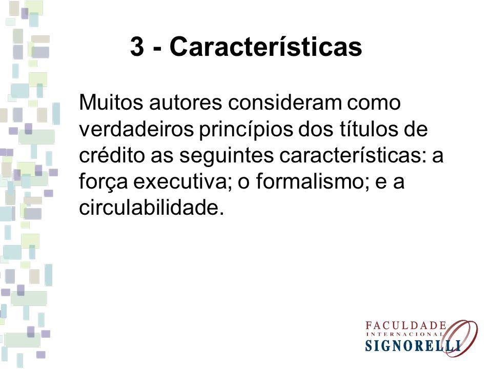 3 - Características