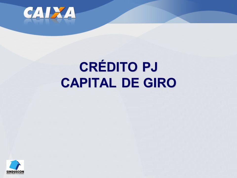CRÉDITO PJ CAPITAL DE GIRO