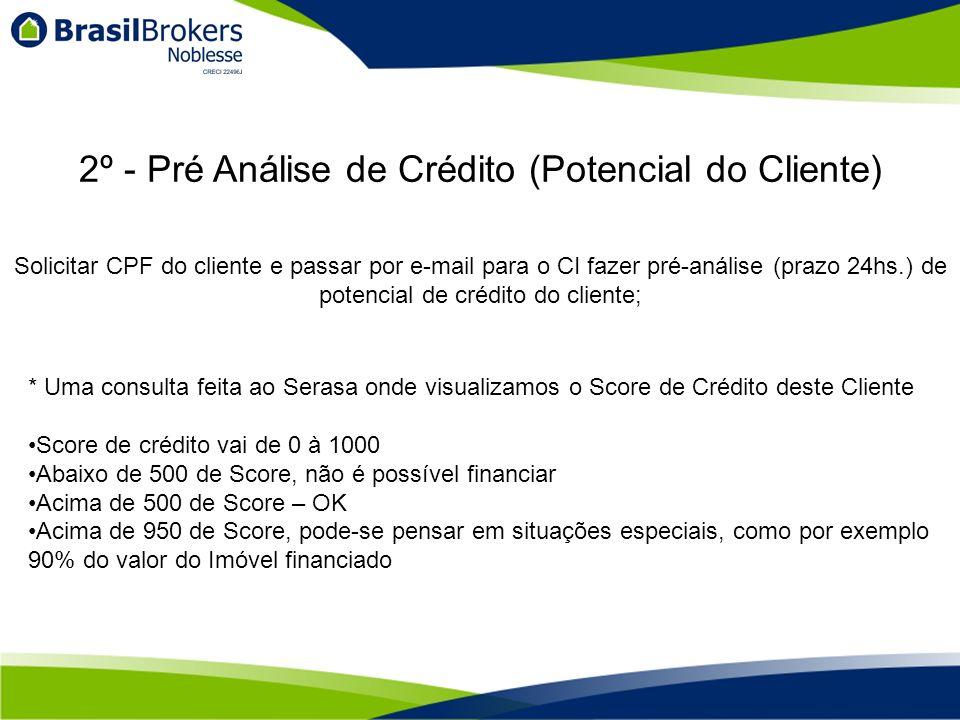 2º - Pré Análise de Crédito (Potencial do Cliente)