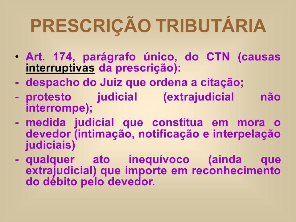 PRESCRIÇÃO TRIBUTÁRIA