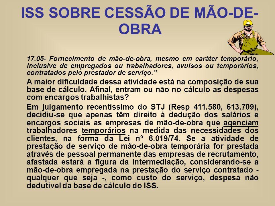 ISS SOBRE CESSÃO DE MÃO-DE-OBRA