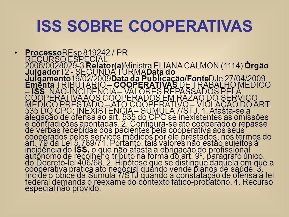 ISS SOBRE COOPERATIVAS