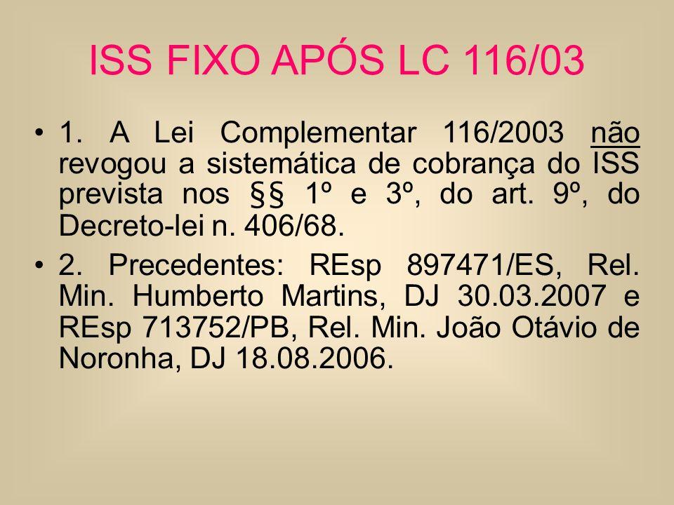 ISS FIXO APÓS LC 116/03