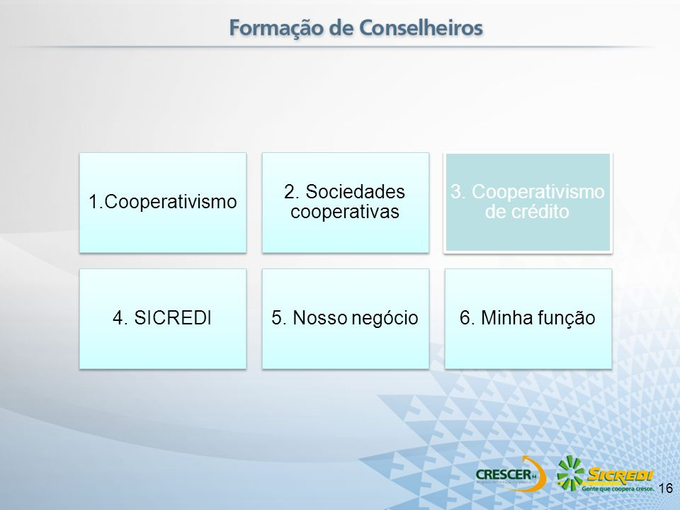 2. Sociedades cooperativas 3. Cooperativismo de crédito 4. SICREDI