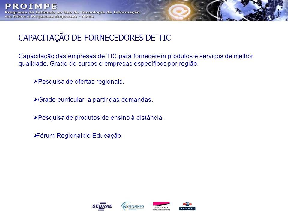 CAPACITAÇÃO DE FORNECEDORES DE TIC