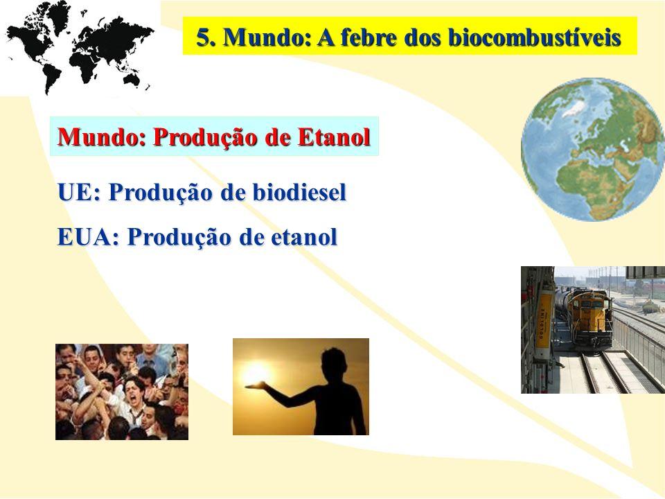 5. Mundo: A febre dos biocombustíveis