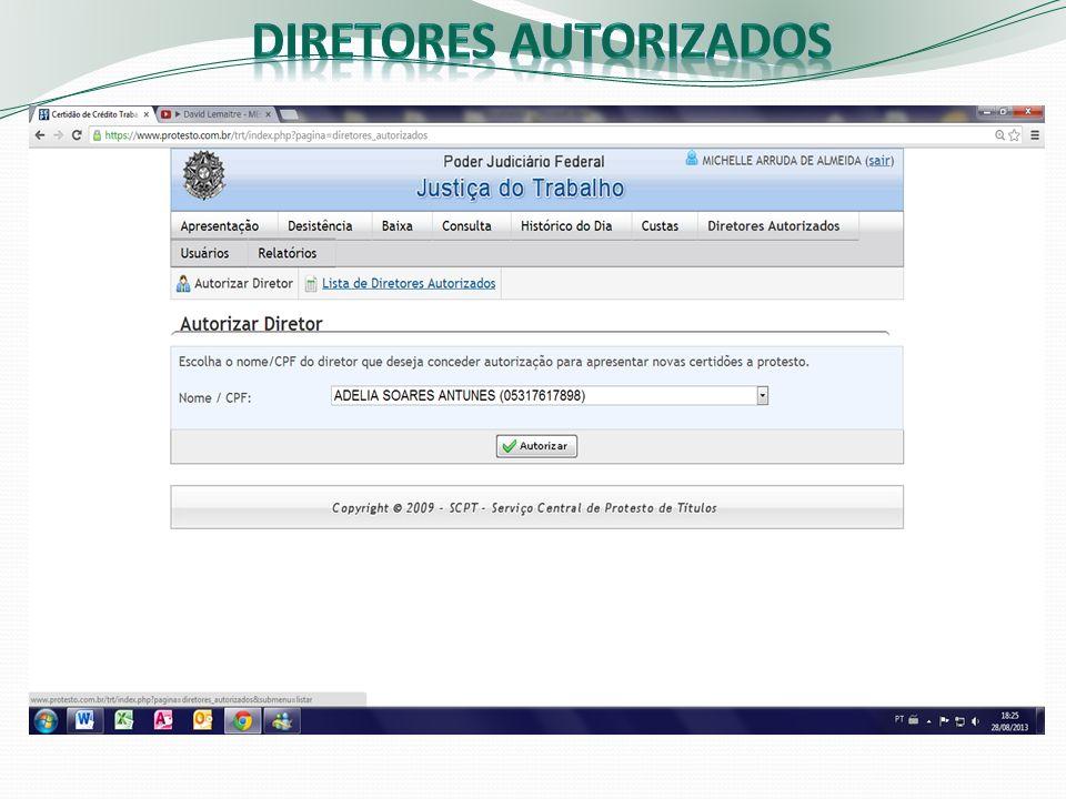 Diretores autorizados