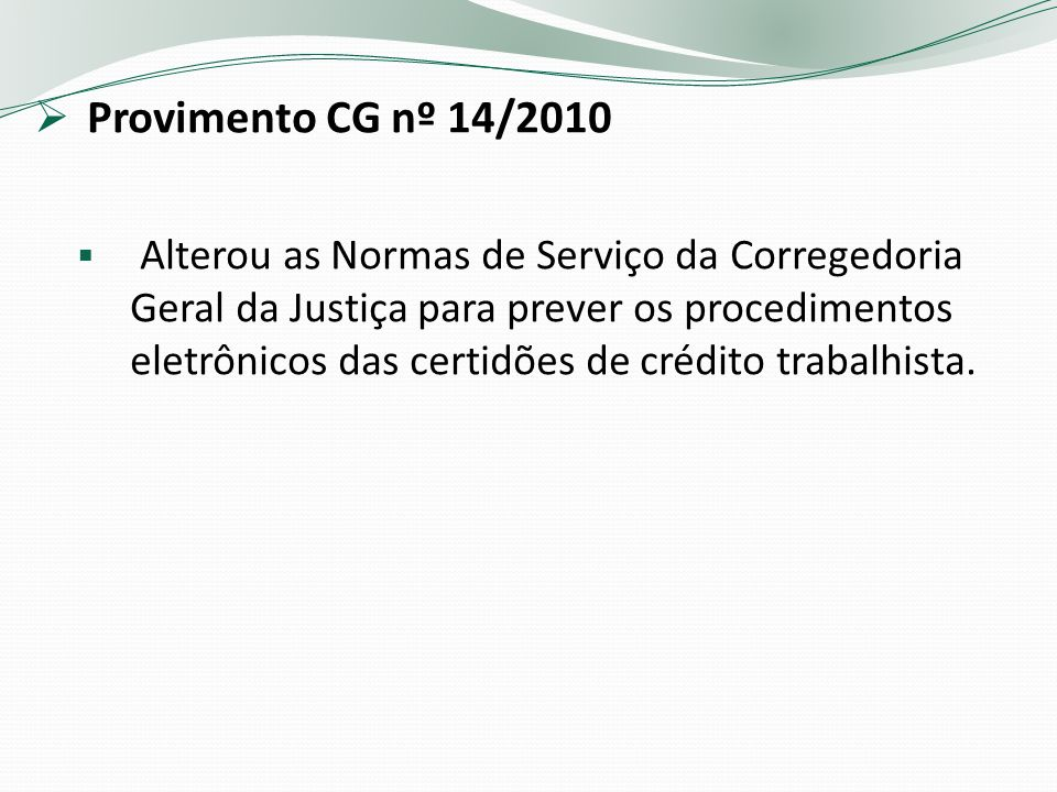 Provimento CG nº 14/2010
