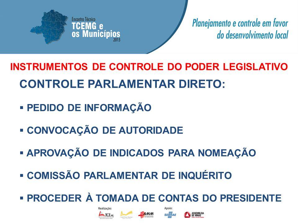 INSTRUMENTOS DE CONTROLE DO PODER LEGISLATIVO