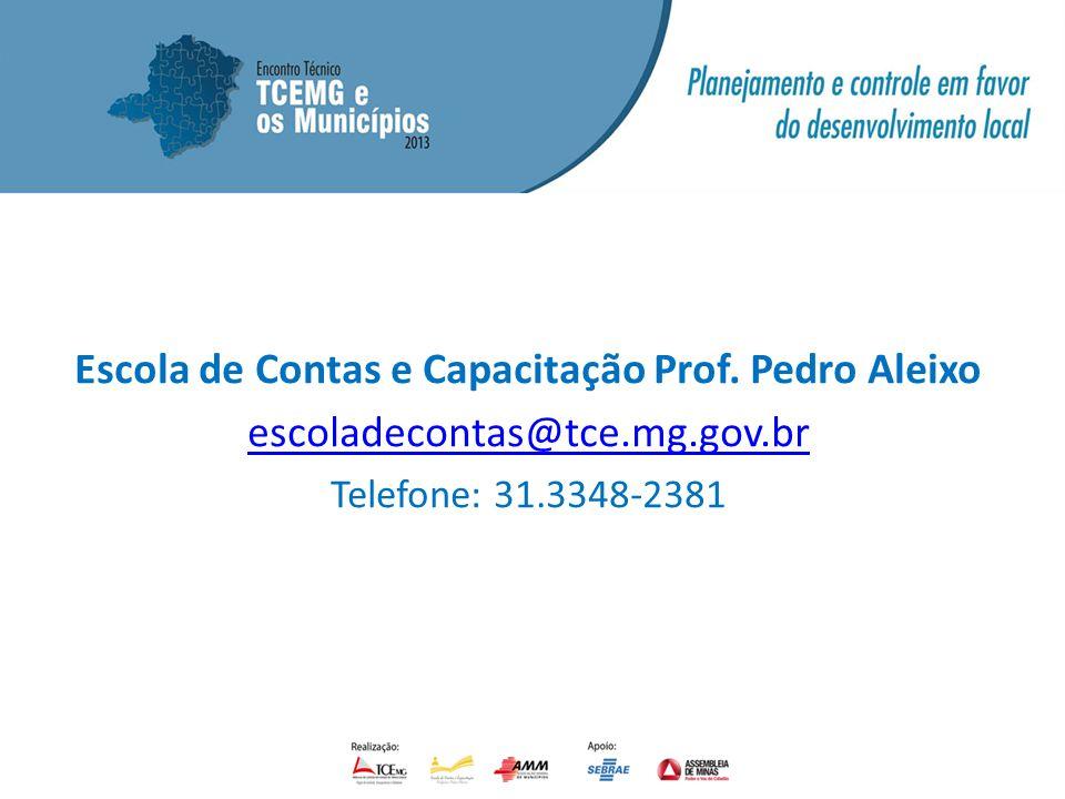 Escola de Contas e Capacitação Prof. Pedro Aleixo