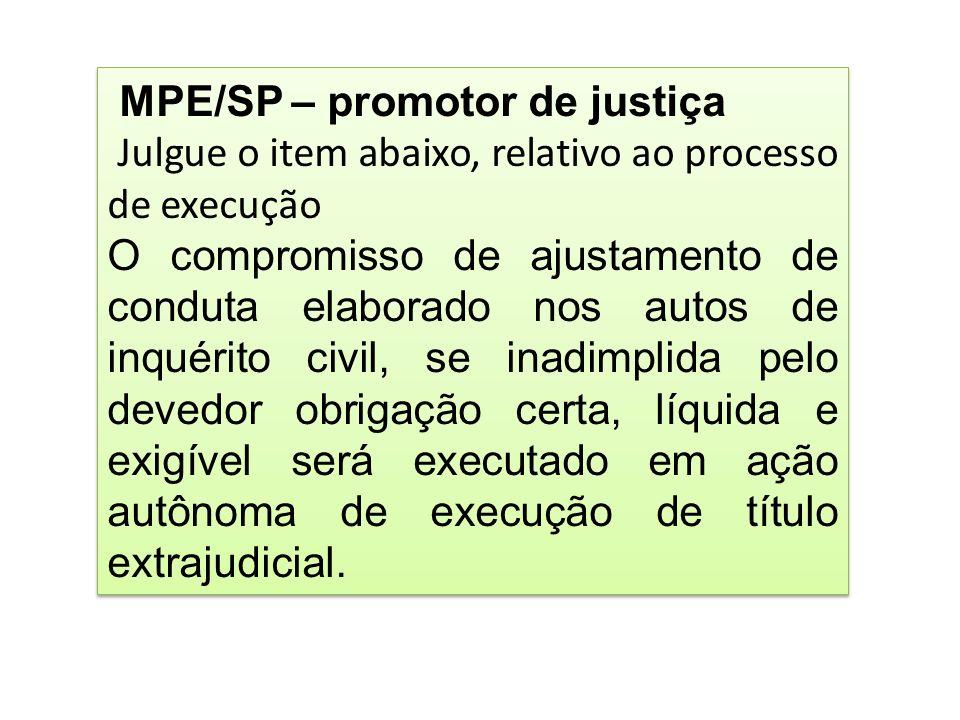 MPE/SP – promotor de justiça