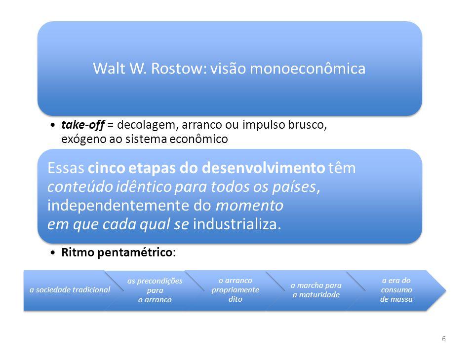 Walt W. Rostow: visão monoeconômica
