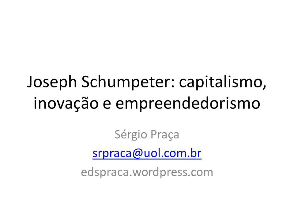 Joseph Schumpeter: capitalismo, inovação e empreendedorismo