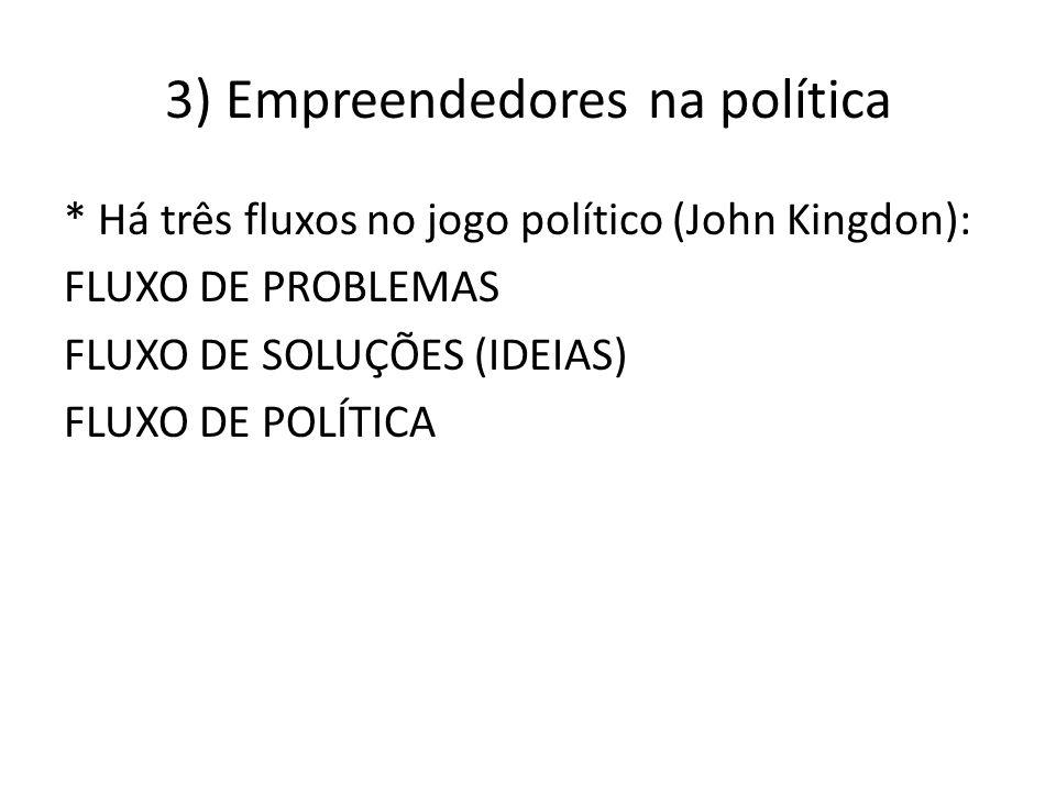 3) Empreendedores na política