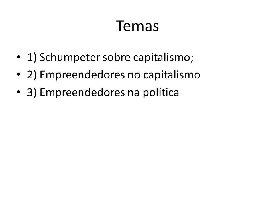 Temas 1) Schumpeter sobre capitalismo;
